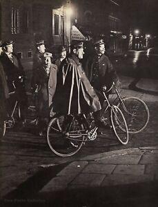 1931 Vintage BRASSAI Paris Police On Bike Montmartre Gendarmes Duotone Photo Art