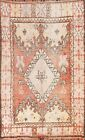 Vintage Geometric Tribal Moroccan Oriental Area Rug Hand-knotted Wool 6x9 Carpet