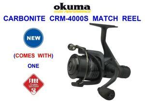 2021 OKUMA CARBONITE CRM 4000S MATCH REEL FOR COARSE FLOAT FEEDER ROD FISHING