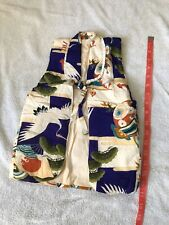 Boys Child Japanese Kimono Quilted Puffy Vest
