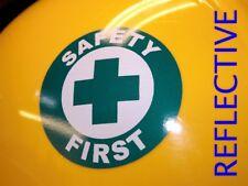 Reflective Safety First Hard Hat Sticker  Helmet Decal Label Foreman Laborer