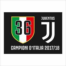 Bandiera Juventus 36 Campione D'Italia 2017-2018 100x140 Prodotto Ufficiale