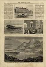 1875 Safety Boat Conveying Gunpowder Duncan Sherman Bank Failure Disco Island