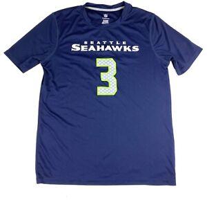 NFL Seattle SEAHAWKS RUSSELL WILSON Jersey T-SHIRT BY NFL Blue #3