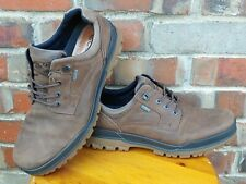 Ecco Mens Sports Track Plain Toe Lace-Up Gore-Tex Brown Leather Low Boots EUR 45