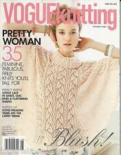 Vogue Knitting International magazine Fall knits Pastels Ruffles Trim trends