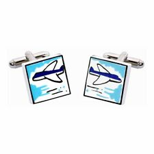 Aeroplane Cufflinks by Sonia Spencer, gift boxed. Plane, Jet, RRP £20