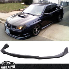 For 2006-2007 Subaru Impreza WRX STI S204 Black PP Front Bumper Lip Spoiler