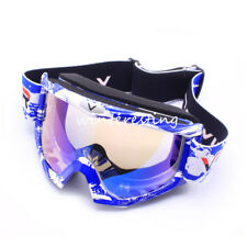 Kids Motorcycle Goggles Bike Ski Glasses Riding Cycling Anti-UV Eyewear Blue