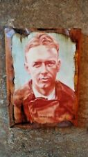Charles Lindbergh photo on wood plaque