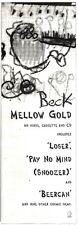 """3/12/94PGN21 ALBUM ADVERT 15X5"""" BECK : MELLOW GOLD"""