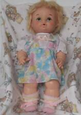 "Vintage 1971 Eegee Dublon Softina 14.5"" Blonde Hair, Painted Blue Eyes"