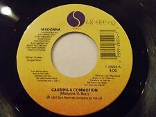 Madonna Causing A Commotion / Jimmy Jimmy 45 1986 Sire Vinyl Record