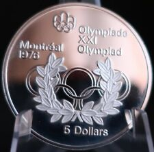 1976 CANADA 5 DOLLARS MONTREAL OLYMPIC GAMES SILVER PROOF Z245