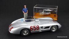 MB 300 SLR 1955 #658 + Motor + Figur Fangio 1:18 CMC M-117A Set Techno Classica