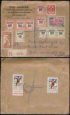 MONACO 1937 enregistré multi l'affranchissement suppléments + pub tag FLY TOX... ziegler