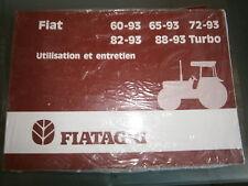 Fiat tracteur 60-93 65-93 72-93 82-93 88-93 Turbo : notice d'utilisation