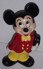 Vintage Walt Disney Productions Hand Painted Ceramic Mickey Mouse Figurine Signd