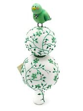 Patricia Breen Green Aviary Finial Songbird Chinoiserie Spring Pearl Tree Top
