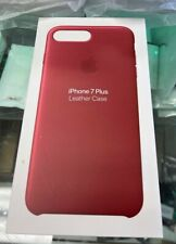 Genuine Apple Red Leather Case for iPhone   7 8 Plus Berry Red OEM New Sealed