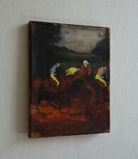 Unique Rare Jockeys original oil on canvas painting, signed Edgar Degas w COA
