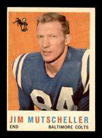 1959 Topps Football Set Break # 89 Jim Mutscheller VG-EX to EX *OBGcards*