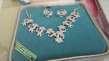 VINTAGE STERLING SILVER MARCASSITE SET OF NECKLACE AND EARRINGS