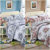 100% Cotton Luxury Bright Printed Duvet Cover Bedding Set Single Double King