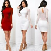 Dress Party Evening Long Sleeve Bandage US Mini Women Bodycon Club Cocktail Sexy