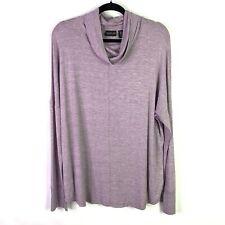 Rachel Zoe Womens Sz XL Cowl Neck Turtleneck Sweater Pullover Stretch Top