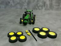 1/64 Farm custom scratch 20.8 R46 tractor kit yellow rims + axels and spacers