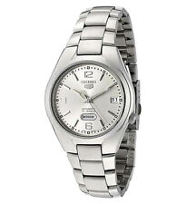 Seiko Automatic SNK619 SNK619K1 Mens Day Date Stainless Steel Watch