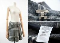 Women's BURBERRY London Nova Check Plaid Gray Belted Skirt USA-6, UK-8 , ITA-40