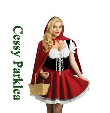 Little Miss Red Riding Hood Storybook Fancy Dress Halloween Costume Outfit 6-24