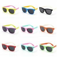 Kids Polarized Sunglasses Rectangular Boys Girls Shades Fashion Children L373