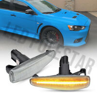 Clear Lens Amber Led Front Side Marker Light for Mitsubishi Lancer Evo X Mirage