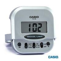 Casio PQ-30-8 Pocket Travel Alarm Beep Silver Clock Snooze PQ-30 Original New