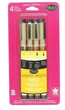 Sakura 50040 Micron Fine Pens Set 4 Sizes Sketch Lettering Drawing Art Craft NEW