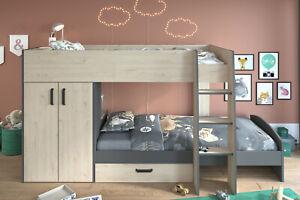 Hochbett Etagenbett Bettschubkasten Kleiderschrank/Wäscheschrank   Parisot Stim2