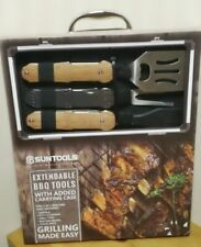Grilling Utensils Extendable W/Carrying Case. By Suntools. New