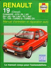 RENAULT 19 Diesel Chamade GTD RL 1.9 RN RT TD TDE TURBO DX Revue Technique Auto