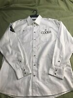 Coogi Classic Shirt Long Sleeve Casual White Button Up Mens XL