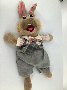 Tale of the Bunny Picnic FATHER Jim Hensen) Applause Puppet Plush Toy Doll Vtg