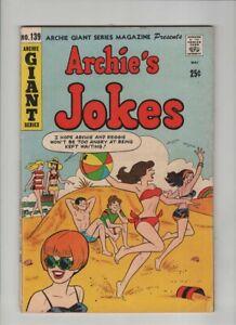 ARCHIE GIANT ARCHIE'S JOKES #139 Fine, Dan DeCarlo sexy swimsuit beach cover