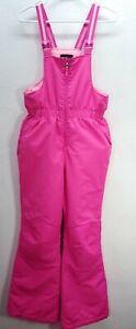 Girls Swisstech Pink Nylon Insulated Snow Bibs Pants Sz XL (14/16)