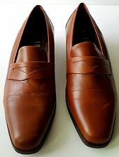 GORGEOUS WOMEN AMALFI BROWN SHOES 7/2 C MADE IN ITALY