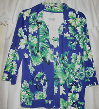 NWT WOMENS SIZE L LIGHTWEIGHT JACKET BY GOOD FORTUNE W/ VIBRANT FLORAL PRINT
