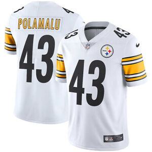 New 2021 NFL Troy Polamalu Pittsburgh Steelers Nike Retired Vapor Limited Jersey