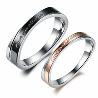 R130 Lovers ring Titanium Steel Promise Ring Couple Wedding Bands wholesale gift