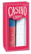Casinò Chip Poker Chips, contatori, Rosso Bianco & Blu CASINO 'GETTONI GIOCO CHIPS